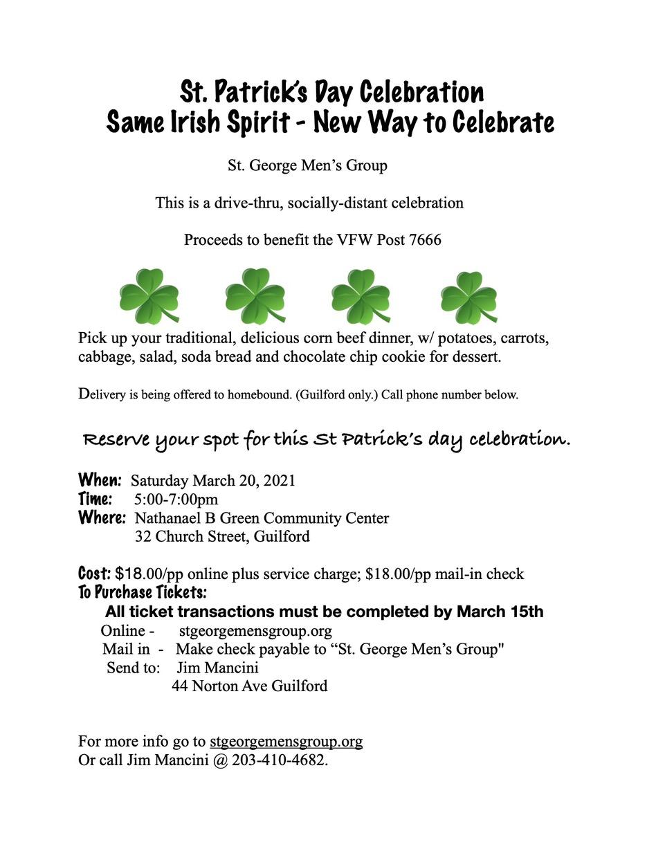 St Patrick's day flyer jpeg 2021
