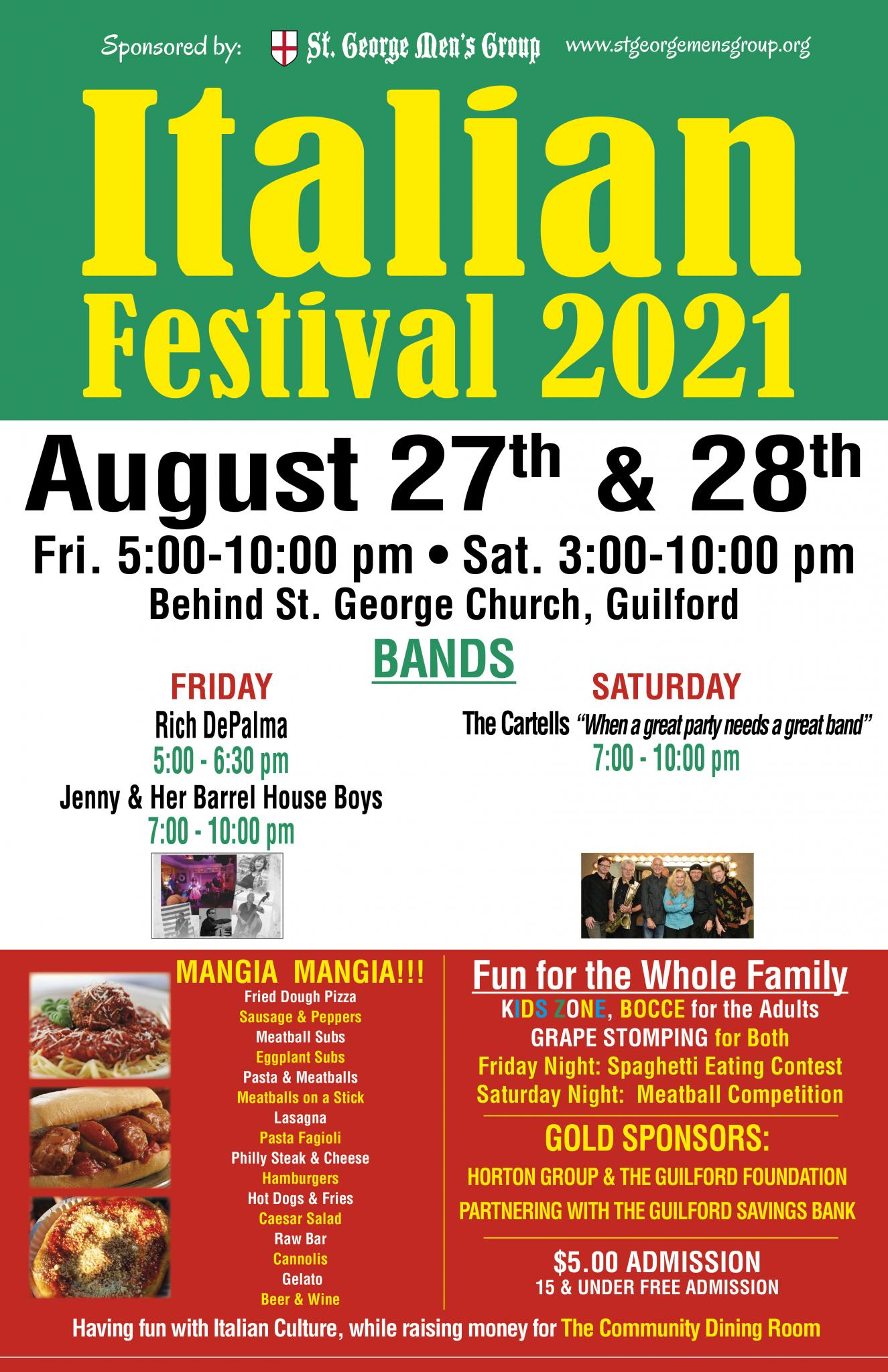 St. George Mens Group Italian Festival 2021