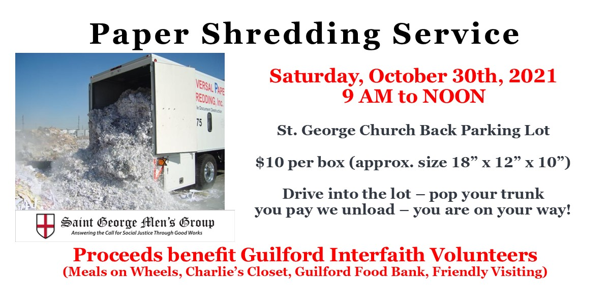 SGMG Shredding Service 10-30-2021